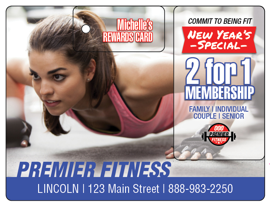 Plastic Postcard Fitness Membership Marketing 10