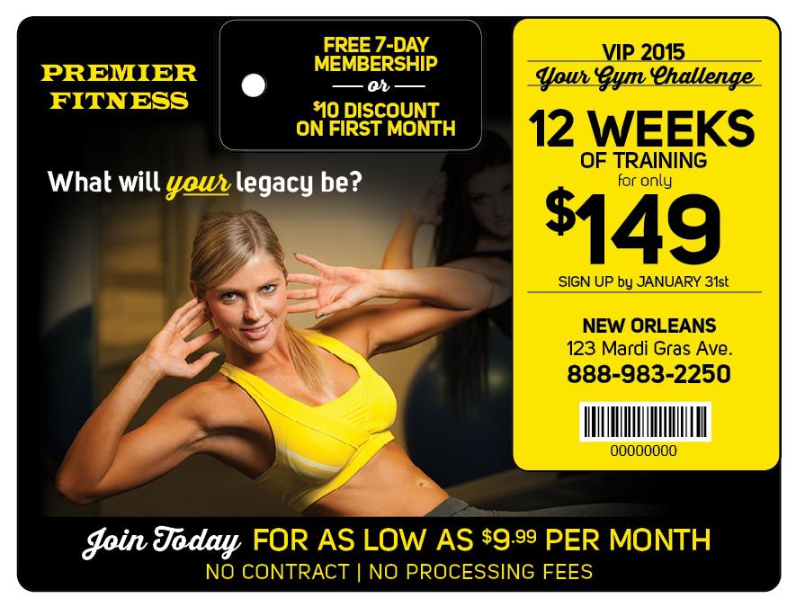 Plastic Postcard Fitness Membership Marketing 11