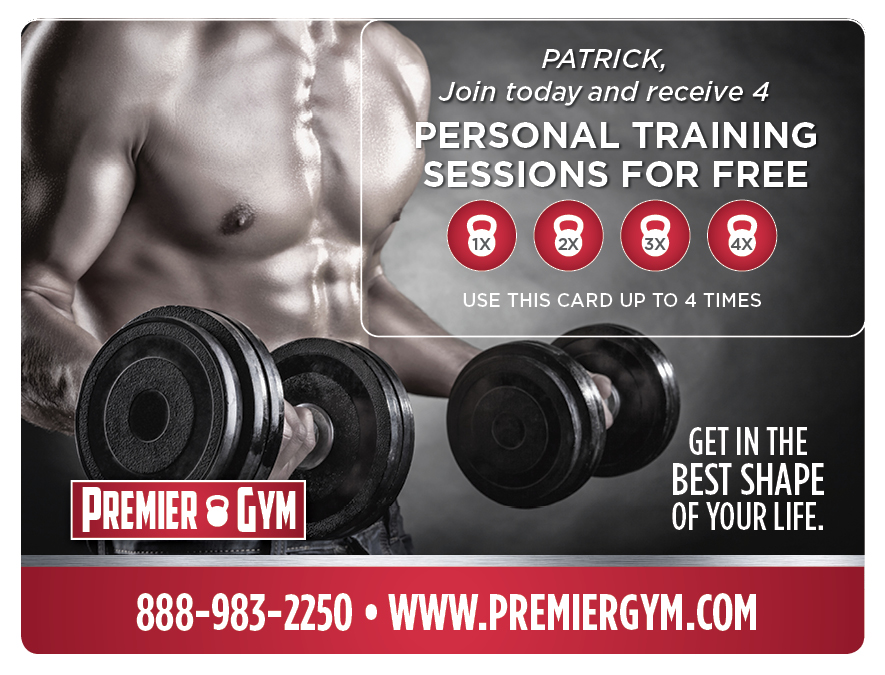 Plastic Postcard Fitness Membership Marketing 1