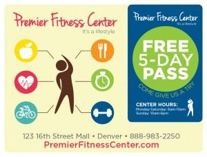 Plastic Postcard Fitness Membership Marketing 2