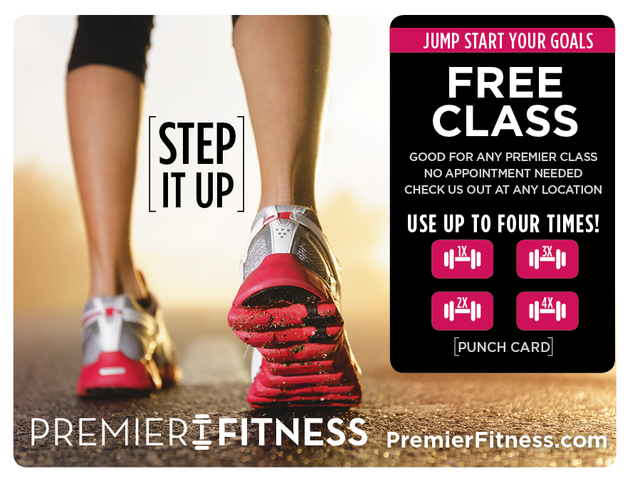 Plastic Postcard Fitness Membership Marketing 3