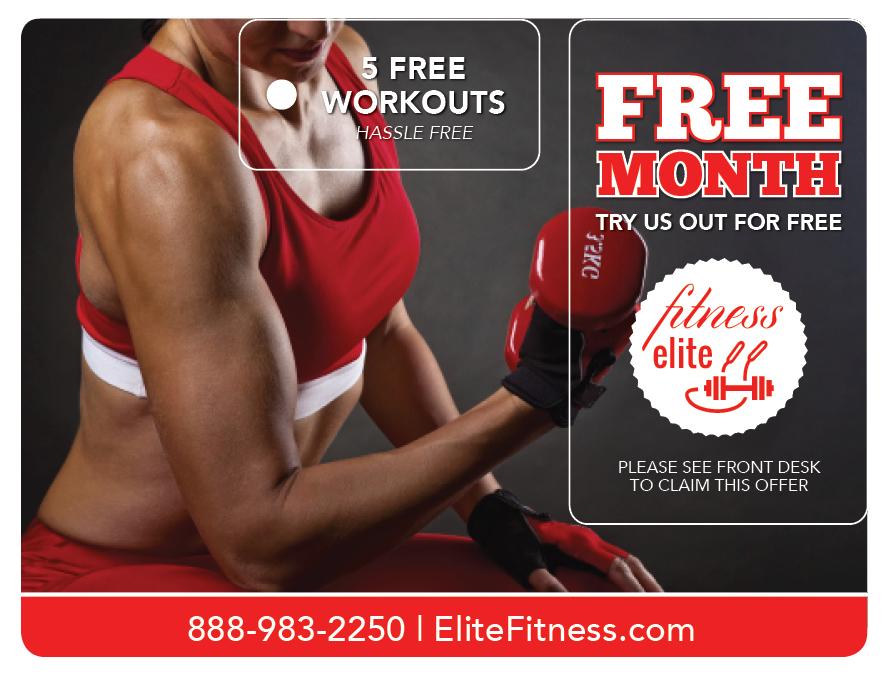 Plastic Postcard Fitness Membership Marketing 4