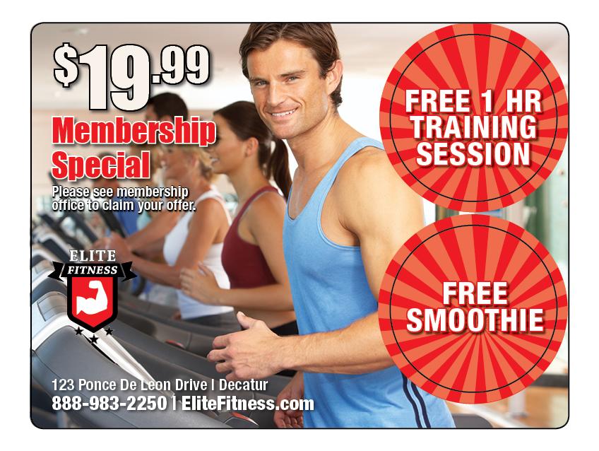 Plastic Postcard Fitness Membership Marketing 6