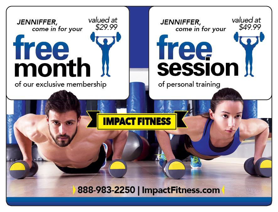 Plastic Postcard Fitness Membership Marketing 9