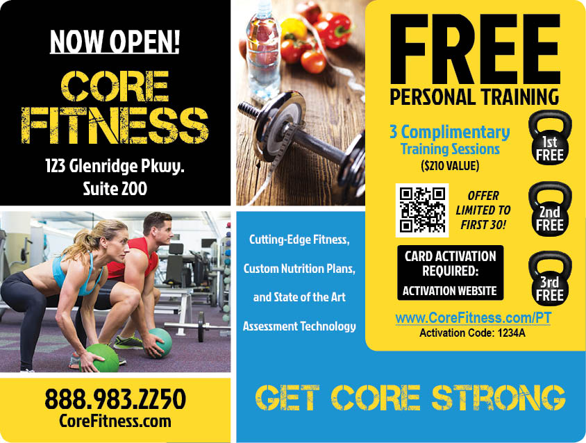 Plastic Postcard Fitness Membership Marketing 14