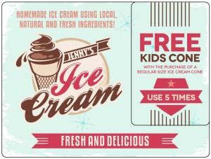 Plastic Postcard Restaurant 10 Ice Cream Yogurt