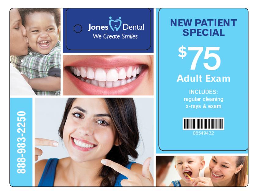 Dental Direct Mail Marketing Plastic Postcard 8
