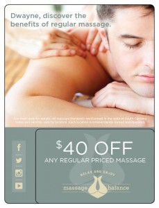 Massage Marketing Plastic Postcard