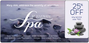 Spa Marketing Plastic Postcard