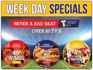 Sport Bar Restaurant Marketing Plastic Postcard