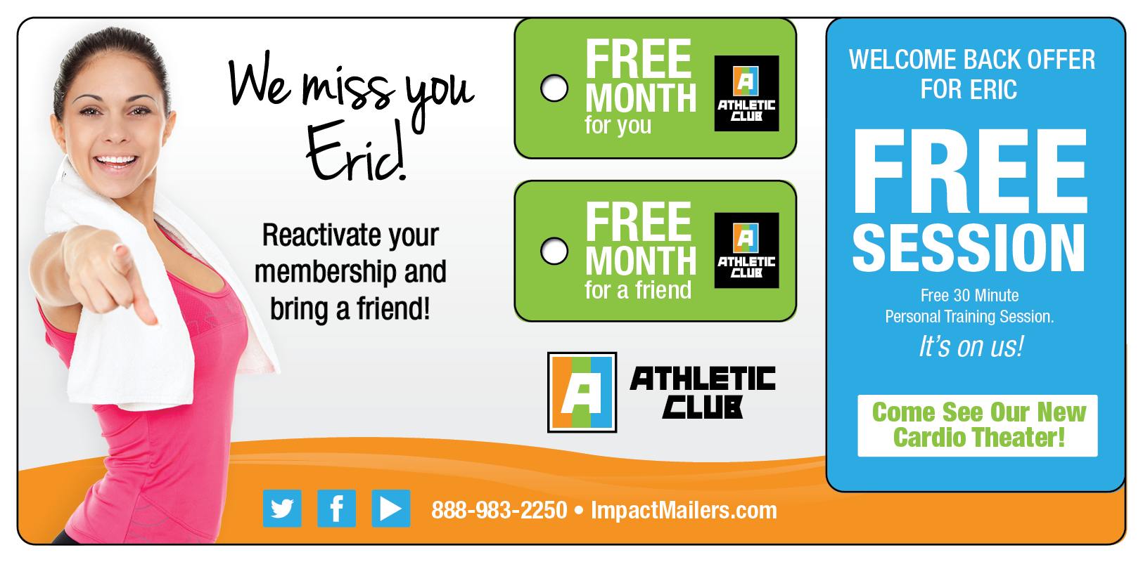 Fitness Club Marketing Reactivation Mailing