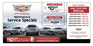 Car Dealership Service Marketing Postcard Mailer