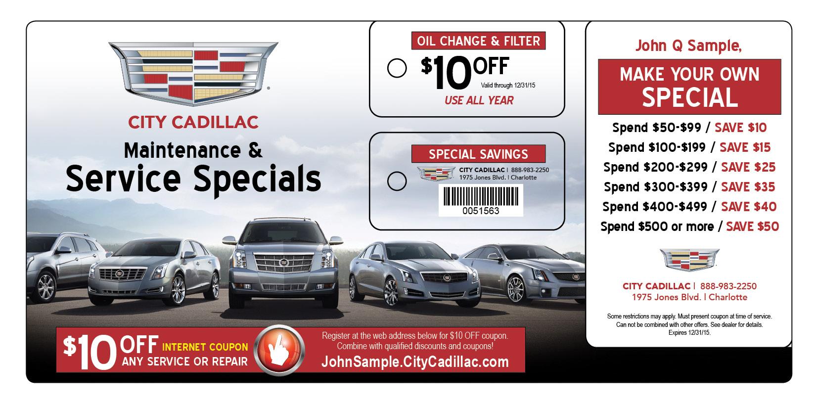 Car Dealership Service Marketing Postcard Mailer