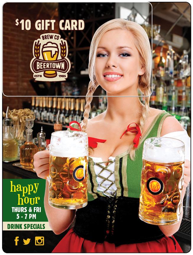 Bar Marketing Plastic Postcard
