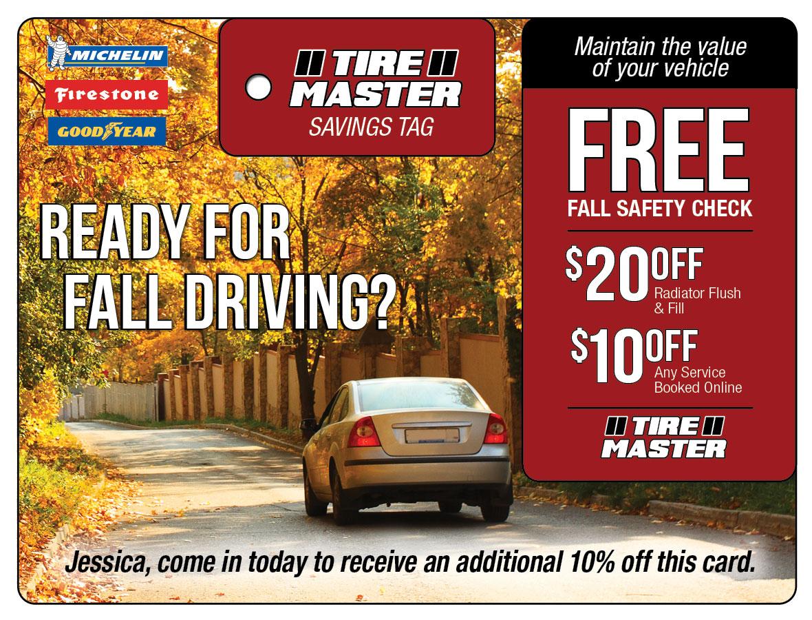 Tire Automotive Marketing Direct Mail Plastic Postcard