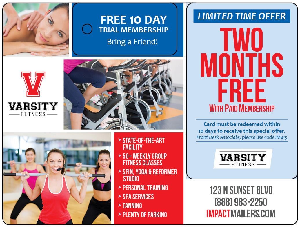 Fitness Club Postcard Mailer
