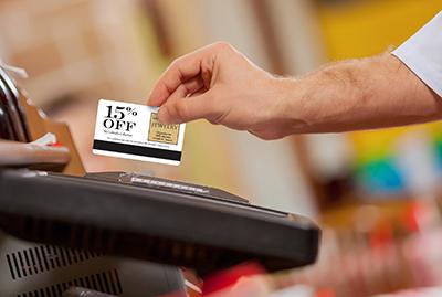 plastic discount postcard