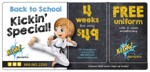 Karate Marketing Plastic Postcard