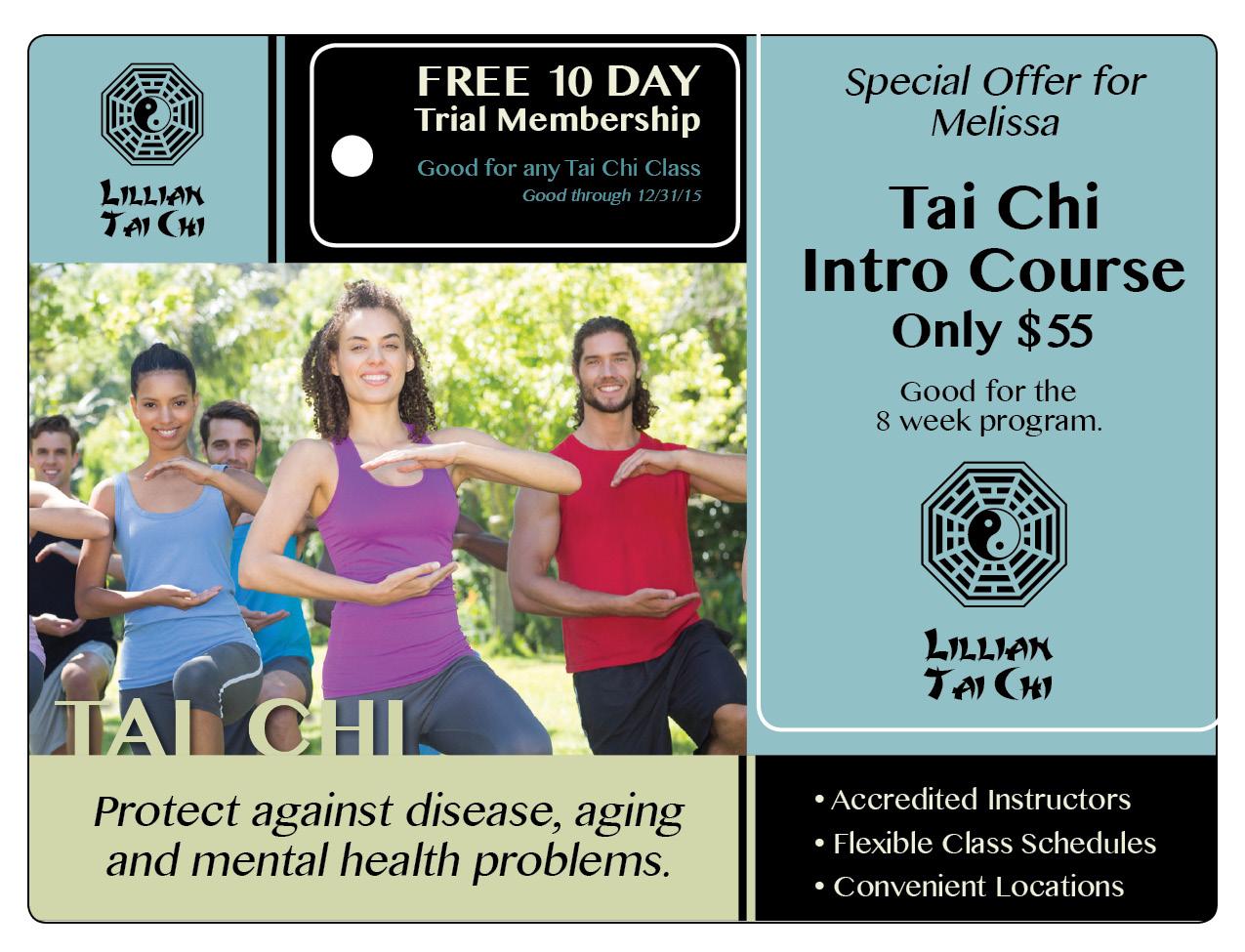 Tai Chi Marketing Direct Mail