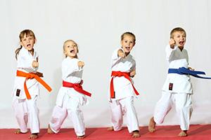 martial arts plastic postcard