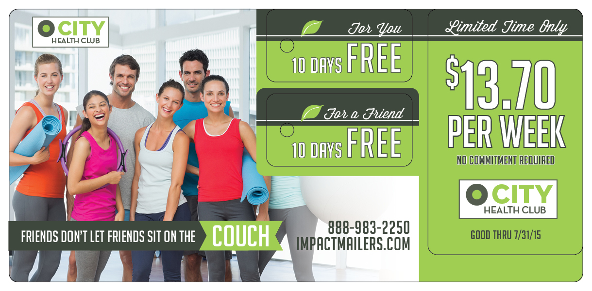 Gym Direct Mail Marketing