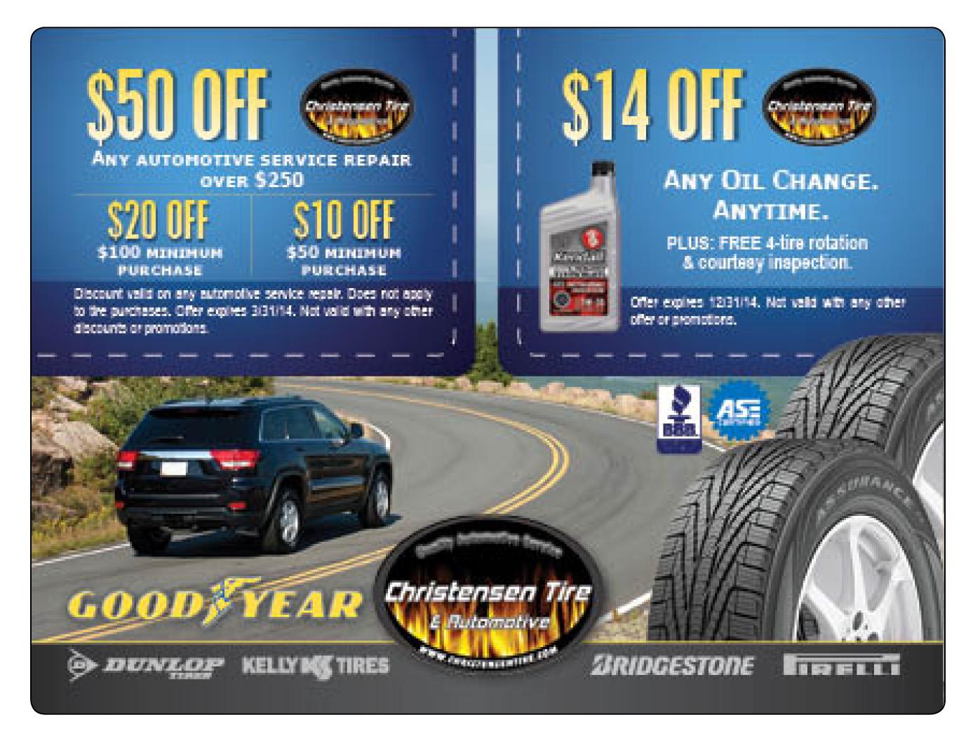 Tire Auto Service Plastic Mailer