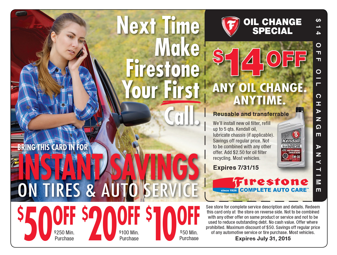 Oil Change Marketing Postcard