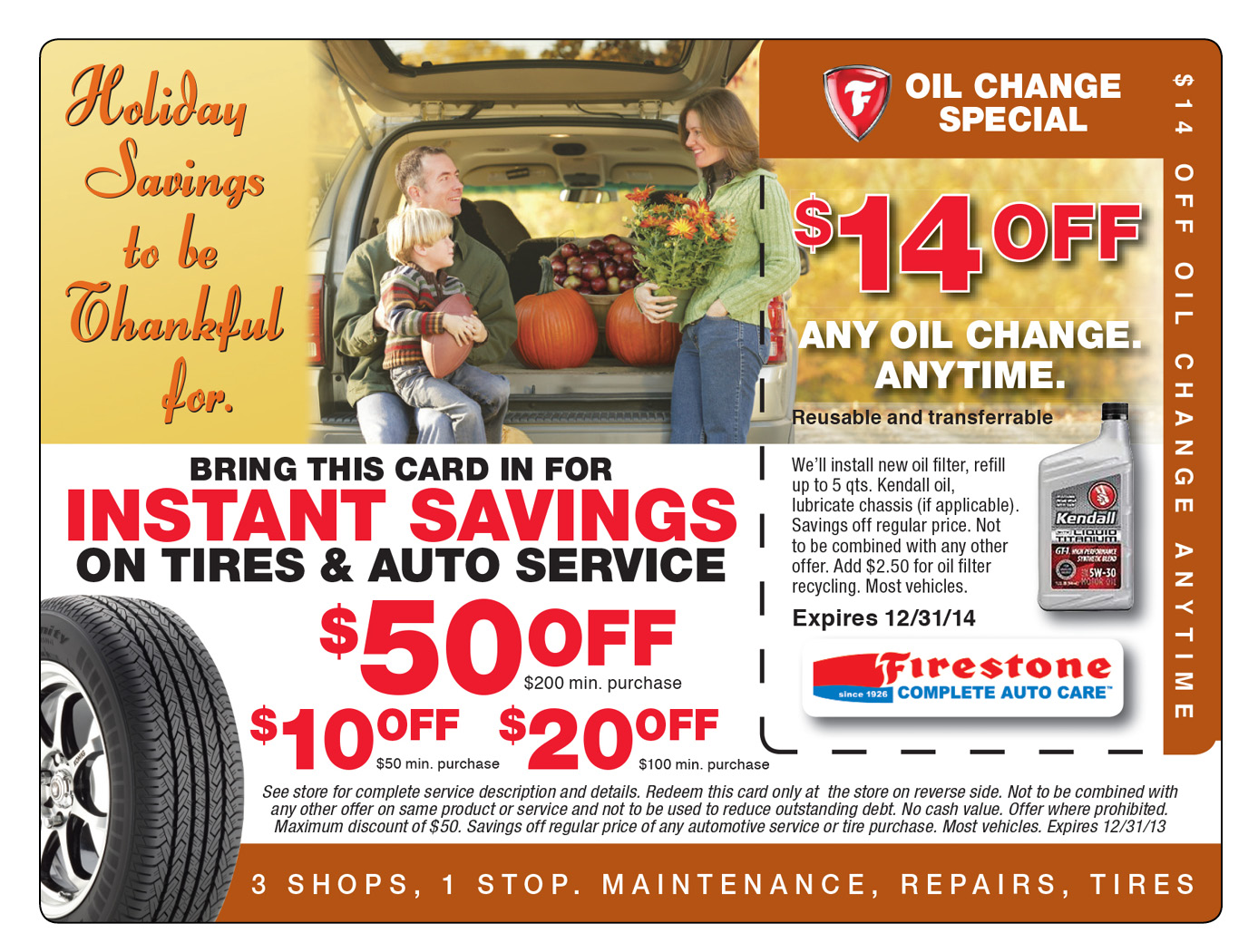 Tire Marketing Mailer