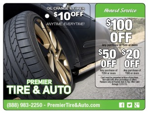 Tire Automotive Direct Mail Postcard