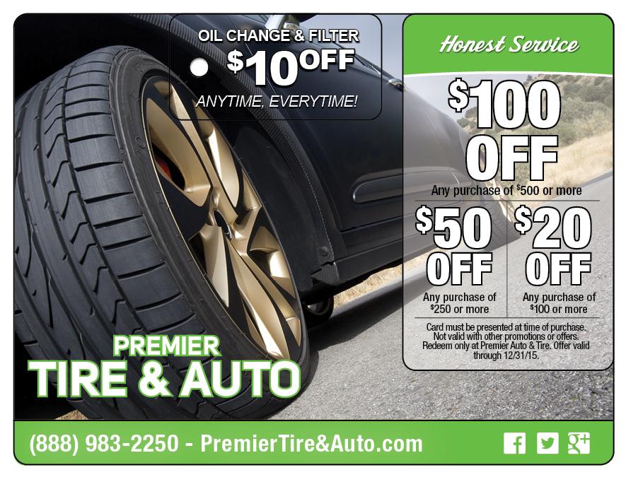 Tire Automotive Direct Mail Postcard