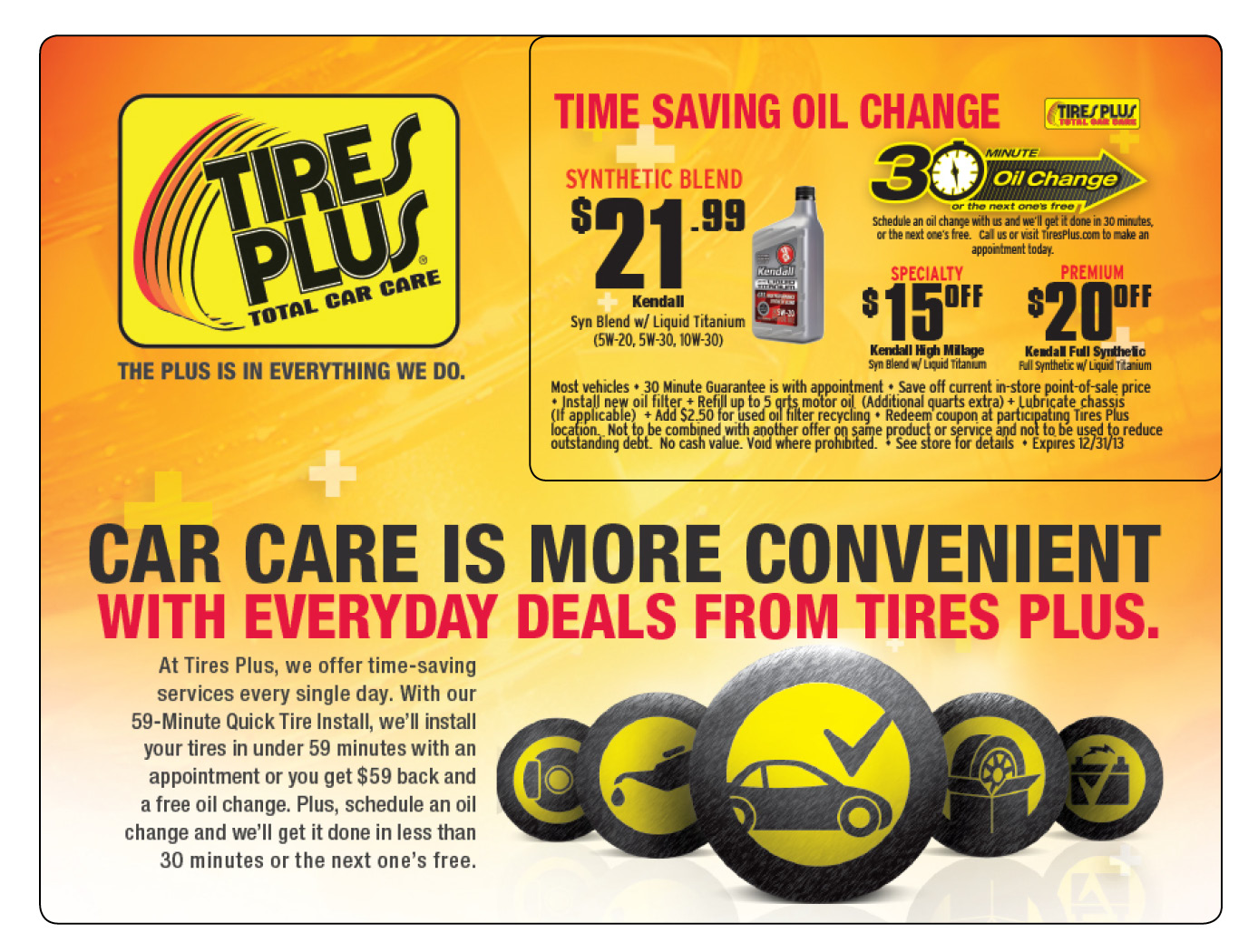 Cost Of Oil Tires Plus Cost Of Oil Change