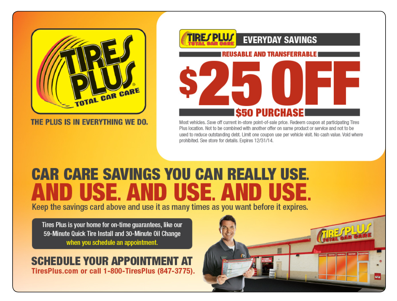 Tire and Auto Service Gift Card Mailer