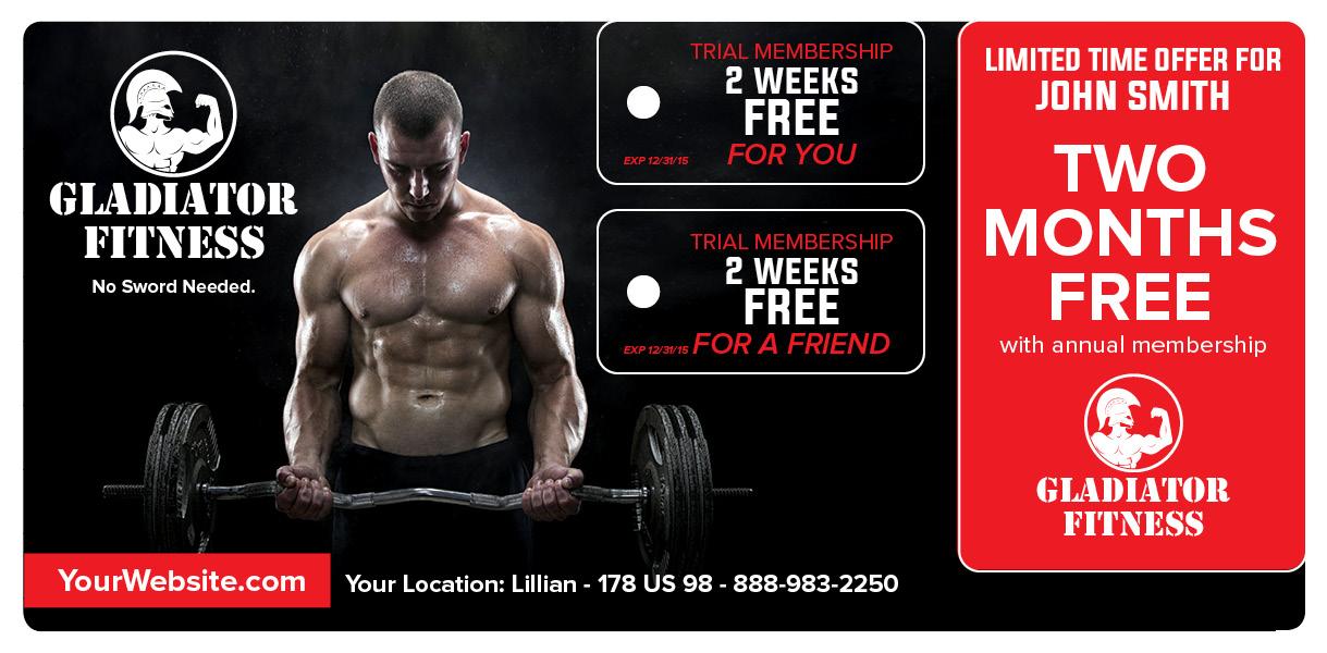 Fitness Club Mailer