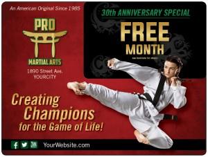 Martial Arts School Marketing Direct Mail