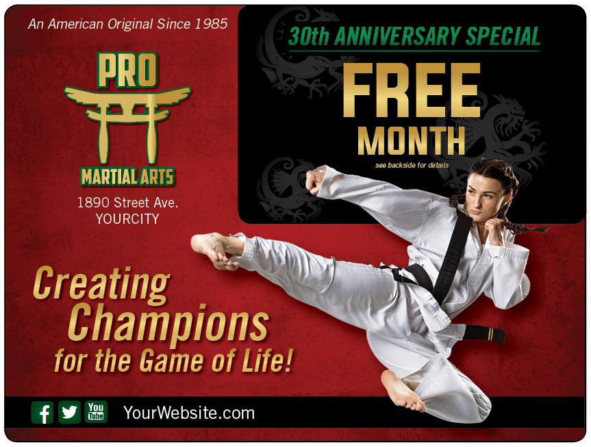 Martial Arts School Marketing Direct Mail