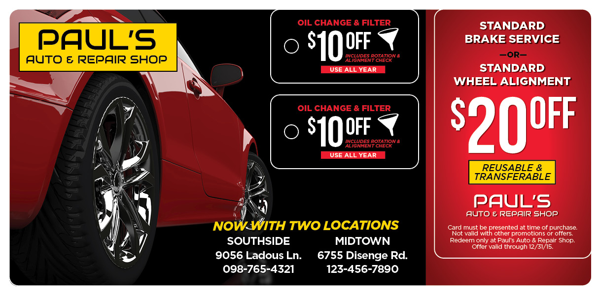 Plastic Postcards & Direct Mail for Auto Repair Centers | Impact Mailers
