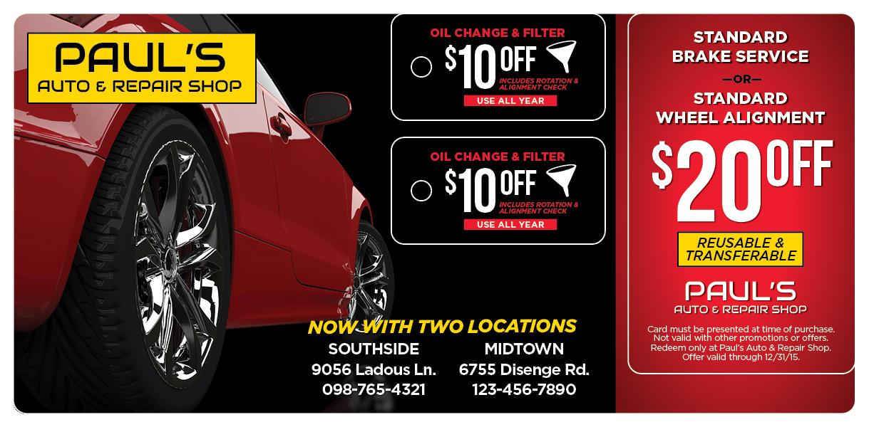 plastic postcards  u0026 direct mail for auto repair centers