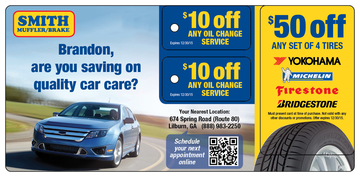 Oil Change Key Tag Mail Marketing