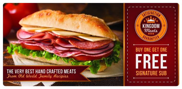 Fast Food Sandwich Shop Marketing Mailer | ImpactMailers.com