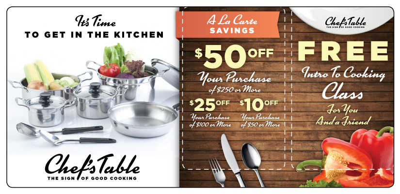 Kitchenware Retail Marketing Postcard | ImpactMailers.com