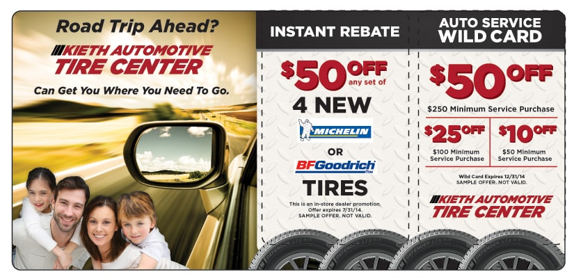 Tire Service Marketing Direct Mail Postcard