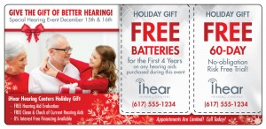 Hearing Aid Direct Mail Marketing Postcard