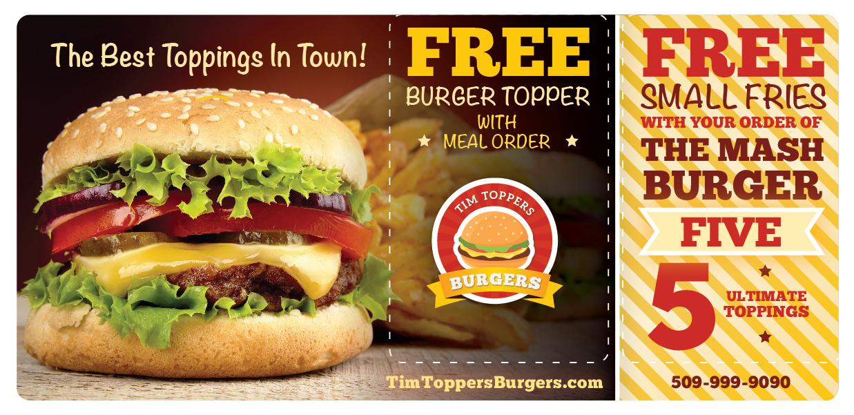 Burger Restaurant Marketing Direct Mail Gourmet Hamburger
