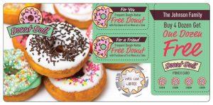 Donut Coffee Marketing Direct Mail Postcard