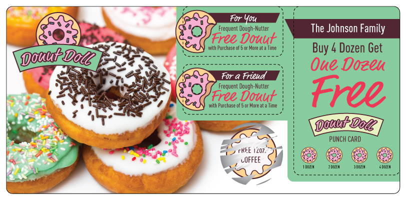 Donut Coffee Marketing Direct Mail Postcard
